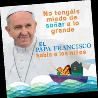 El Papa Francisco habla con los niños