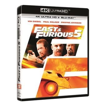 A todo gas: Fast Five - Fast and Furious 5 - UHD + Blu-Ray