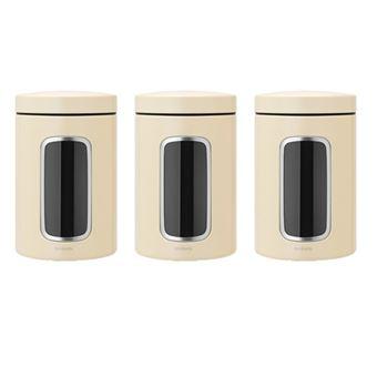 Tarros con ventana Brabantia 1,4 L Beige Kit