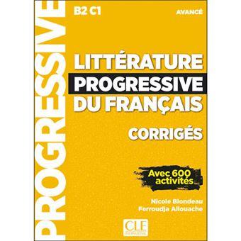 Littérature progressive du français 2ème édition: Corrigés avancé - Nouvelle couverture