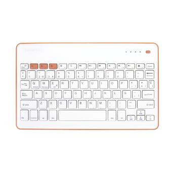 Teclado Bluetooth SilverHT Wireless KB Blanco -  Melocotón