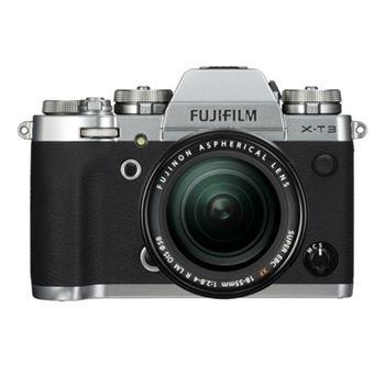 Cámara EVIL Fujifilm X-T3 Plata + XF 18-55 mm OIS