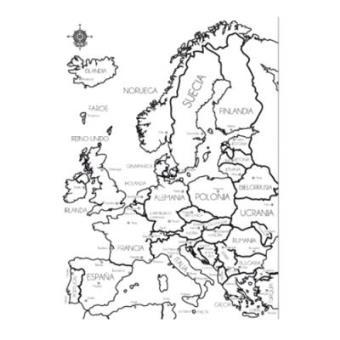 Mapa Europa Muguet Capitales Blanco 5 En Libros Fnac