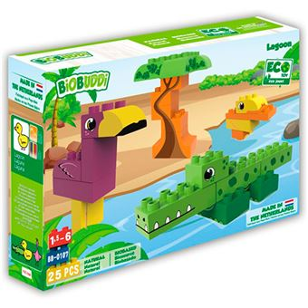 Bloques BioBuddi Animales del lago 25 piezas