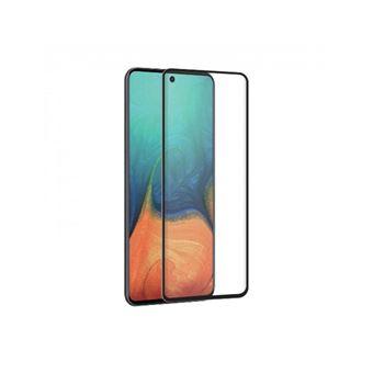 Protector de pantalla Muvit Cristal templado Marco negro para Samsung Galaxy A71