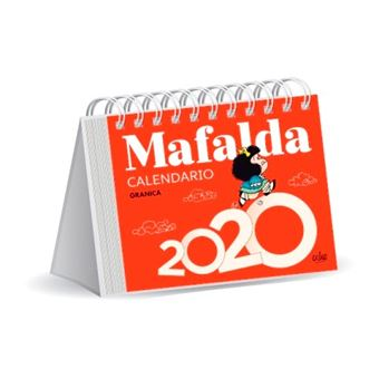 Calendario 2020 escritorio Mafalda rojo
