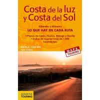 Mapa de carreteras de la Costa de la Luz y la Costa de Sol