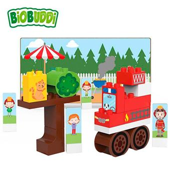 Bloques Biobuddi Camión de bomberos 29 piezas
