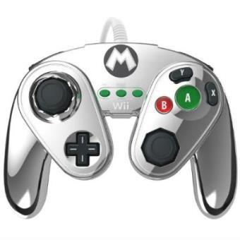 Mando Fight Pad Con Cable: Metal Mario Wii U
