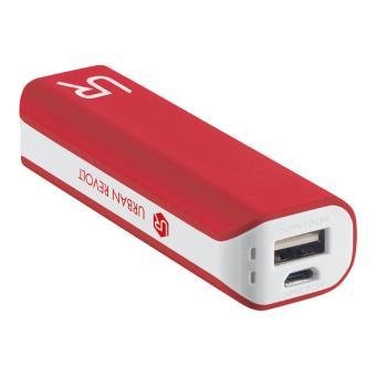 Urban Revolt PowerBank  Batería externa portátil para dispositivos móviles 2200 mAh blanco y rojo
