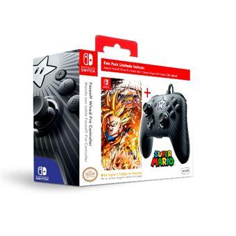 Kit Mando Faceoff Wired Pro Mario Star + Dragon Ball Fighter Z (Código de descarga) Nintendo Switch