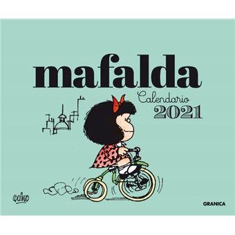 Calendario de escritorio Mafalda 2021 Verde   Calendario, horario