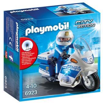 Playmobil City Action Moto de Policía con LED
