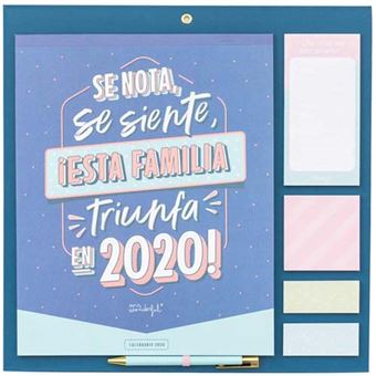 Mr Wonderful Calendario familiar – Se nota, se siente, ¡esta familia triunfa en 2020!