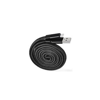 Cable Muvit Tiger MicroUSB Negro 1m