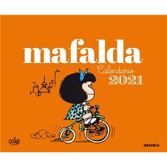 Calendario de escritorio Mafalda 2021 Naranja   Calendario