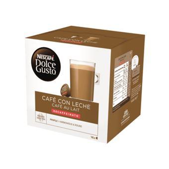16 cápsulas Nescafé Dolce Gusto Café con leche decaffeinato