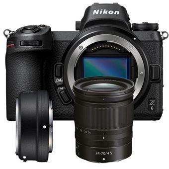Cámara EVIL Nikon Z6 + 24-70 mm + Adaptador FTZ SD2 Kit