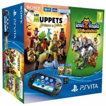 PS Vita 8 GB + Invizimals La Resistencia + Los Muppets