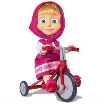 Figura Masha y el Oso Triciclo con muñeca Rosa
