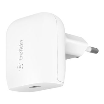 Cargador de pared Belkin USB-C de 20 W Blanco