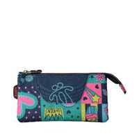 Estuche escolar triple Totto Tablero estampado Yolo multicolor