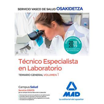 Técnico Especialista en Laboratorio de Osakidetza - Temario general volumen 1