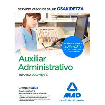Auxiliar Administrativo de Osakidetza - Temario volumen 2