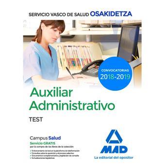 Auxiliar Administrativo de Osakidetza - Test