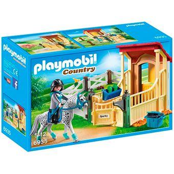 Playmobil Country Caballo Appaloosa con establo