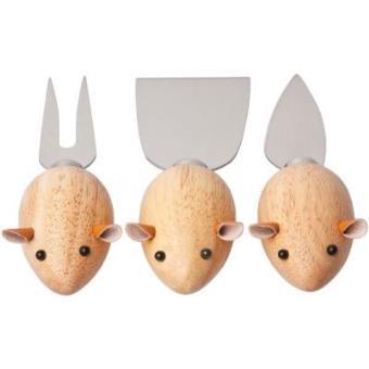 Set de 3 cuchillos para queso Mouse