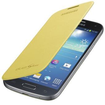 Samsung funda flip cover S4 mini amarilla