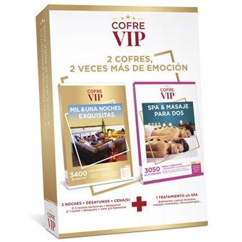 Caja regalo CofreVIP Bundle Mil y una noches Exquisitas/Spa & Masajes para dos