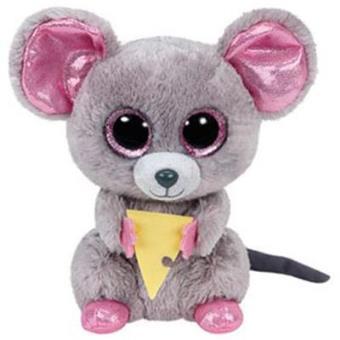 Peluche Ratón Squeaker Beanie Boos (15 cm) Cumpleaños 3 de mayo