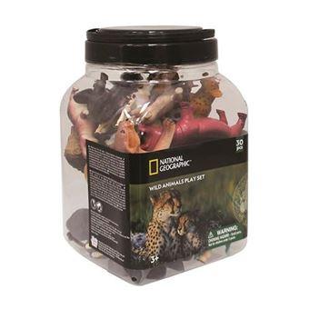 Cubo de 30 figuras de animales salvajes