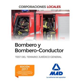 Bombero y Bombero-Conductor: Test del temario jurídico general