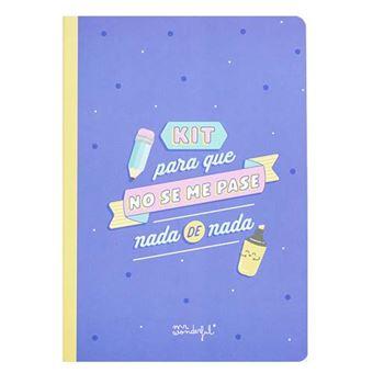 Mr Wonderful Libreta de pegatinas y notas adhesivas para que no se te pase nada