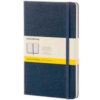 Cuaderno Moleskine Classic L Cuadrícula Azul Zafiro