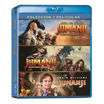 Jumanji: 1995 + Bienvenidos a la Jungla + El Siguiente Nivel - Blu-ray