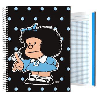 Cuaderno Mafalda A4 Cuadriculado Tapa dura Lunares