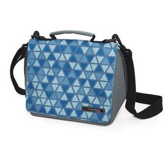 Bolsa porta alimentos Iris Smart Geometric Azul