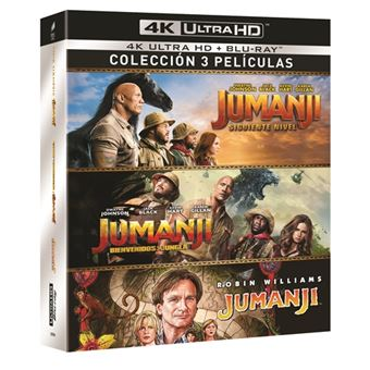 Jumanji: 1995 + Bienvenidos a la Jungla + El Siguiente Nivel - UHD + Blu-ray