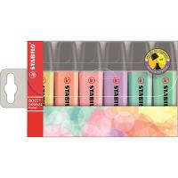 Pack 6 marcadores Stabilo Boss pastel