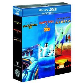 Pack Polar Express + Happy Feet 2 + Viaje mágico a África - Blu-Ray 3D