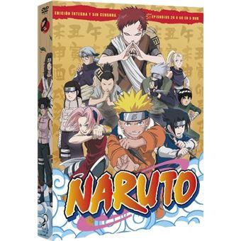 Pack Naruto - Episodios 26 a 50 - DVD