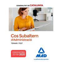 Cos Subaltern de L'Administració de la Generalitat de Catalunya - Temari i Test