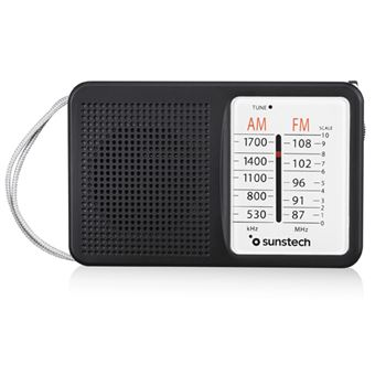 Radio Portátil Sunstech RPS411 AM/FM Negro