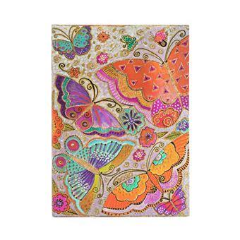 Agenda midi 2020 Paperblanks apaisada semana vista Mariposas tapa dura