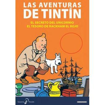 Pack Tintin El Secreto Del Unicornio El Tesoro De Rackham El Rojo Dvd