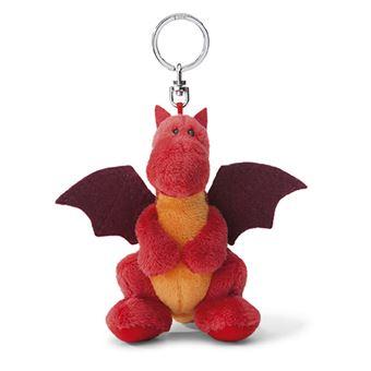 Llavero peluche Dragón de fuego rojo 10 cm